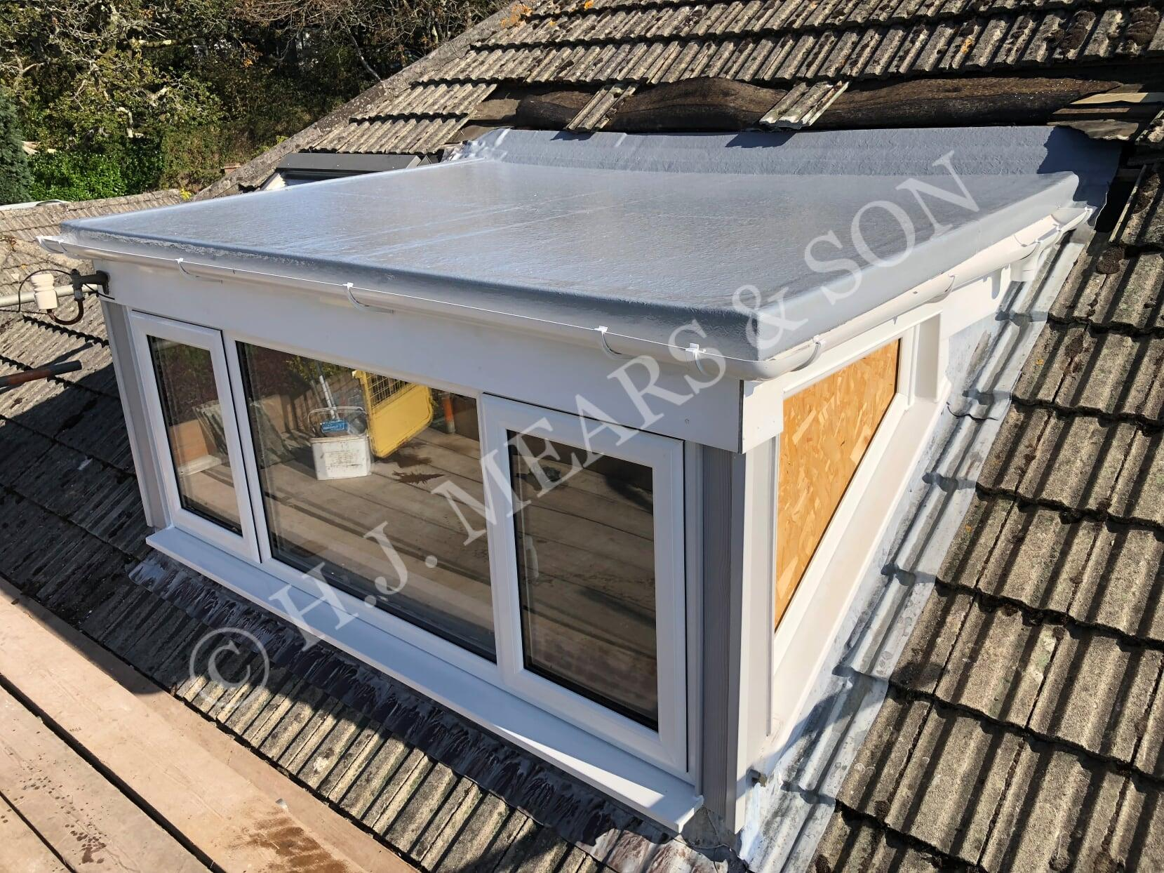 GRP flat roofing - H J  Mears & Son Boat Builders